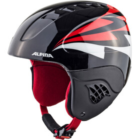 Alpina Carat Casco de esquí Niños, black-red